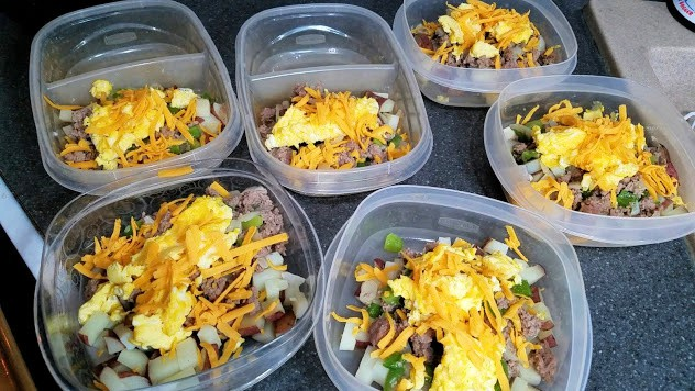 Image of prepared breakfast bowls in containers