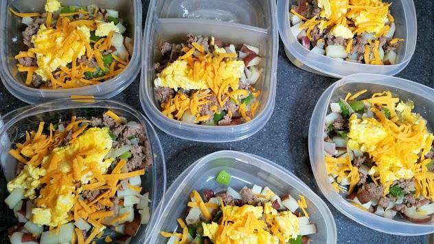 Image of prepared breakfast bowls