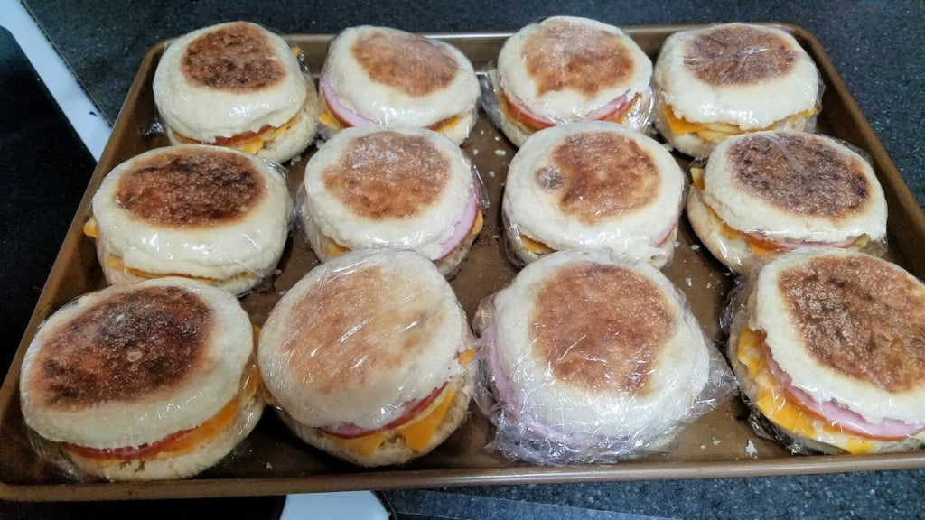 Image of wrapped muffin sandwiches