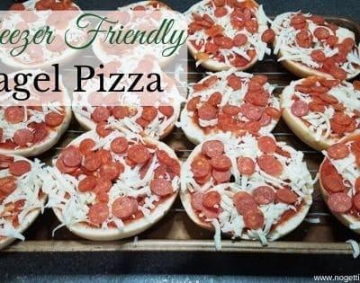 Freezer Friendly Bagel Pizza