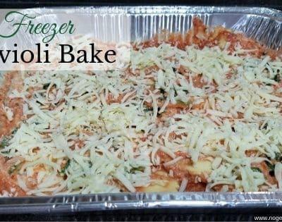 Freezer Ravioli Bake