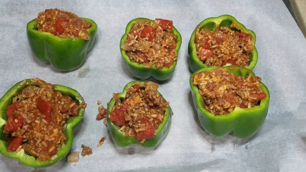 Image of prepared stuffed peppers