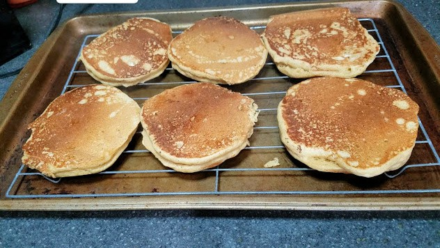 Image of pancakes on a cooling rack