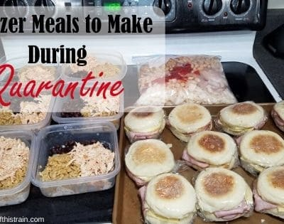 Freezer Meals to Make During Quarantine