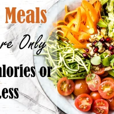 40+ Healthy Meals That are 500 Calories or Less